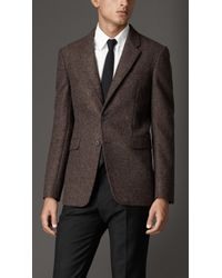 Burberry Modern Fit Textured Wool Jacket - Lyst