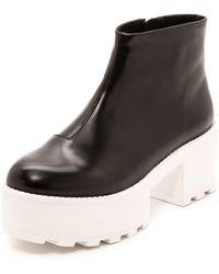 Cheap Monday - Tractor High Booties  Blackwhite - Lyst
