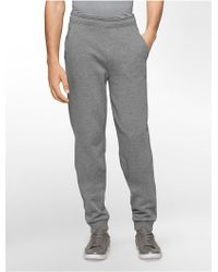 Calvin Klein White Label Performance Tapered Fleece Sweatpants gray - Lyst