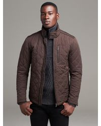 Banana Republic Quilted Jacket  Cabin Brown - Lyst