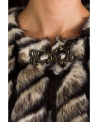 Twelfth Street Cynthia Vincent - Shadows and Light Faux Fur Jacket in Beige - Lyst