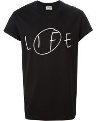 Acne Studios Life Printed T-shirt - Lyst