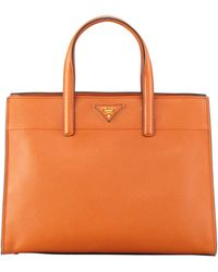 Prada Saffiano Soft Triplepocket Tote Bag - Lyst