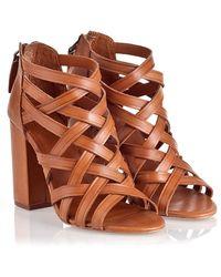 Ash Excelsior Tan Brazil Heels - Lyst