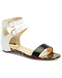Christian Louboutin 'Tres Bea' Double Ankle Strap Sandal - Lyst