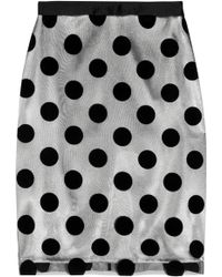 Lulu & Co - Polka-Dot Flocked-Tulle And Satin Skirt - Lyst