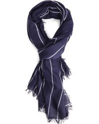 Forever 21 Frayed-Edge Striped Scarf - Lyst