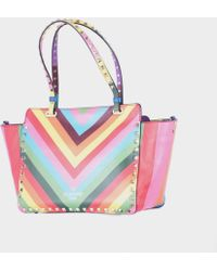 "Valentino Multicolor Small ""Rockstud 1973"" Bag multicolor - Lyst"