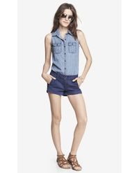 Express 2 12 Inch Weathered Seamed Shorts - Lyst
