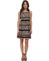 Jessica Simpson Floral Printed Chiffon Dress - Lyst