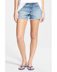 Volcom - 'stoned' Distressed Denim Shorts - Lyst