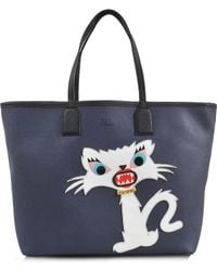 Karl Lagerfeld Monster Choupette Tote - Lyst