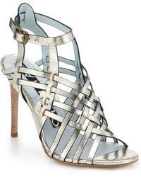 DANNIJO - Dian Metallic Leather Sandals - Lyst