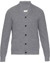 Esk - Hector Ribbed-knit Cashmere Cardigan - Lyst