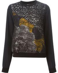 Raoul Metallic Pattern Sweatshirt - Lyst