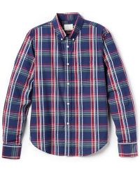 Band of Outsiders Madras Long Sleeve Shirt - Lyst