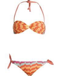 Missoni Bandeau Bikini orange - Lyst