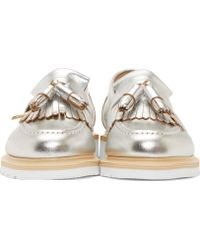 YMC - Silver Coated Solovair Edition Tassel Loafers - Lyst