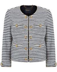 Juicy Couture Lurex Stripe Jacket - Lyst