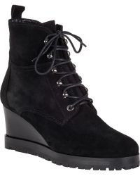Aquatalia by Marvin K Chance Wedge Boot Black Suede - Lyst