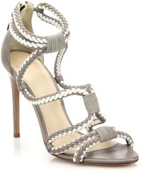Alexandre Birman Braided Suede Sandals - Lyst