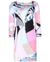 Emilio Pucci Printed Stretch Dress - Lyst