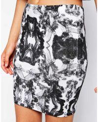 A Question Of Organic Smoke Tube Skirt - Lyst