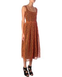 Christopher Kane Orange Leopard-broderie Dress - Lyst