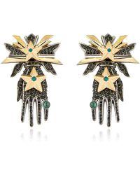 Schield Hands Earrings - Lyst