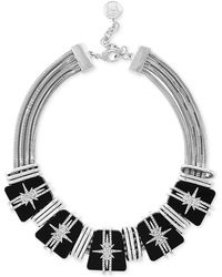 Vince Camuto - Rhodium-plated Starburst Crystal And Resin Collar Necklace - Lyst