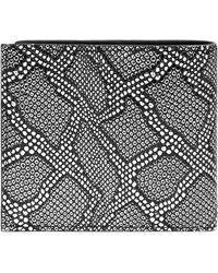 Alexander McQueen Snake Print Billfold Wallet - Lyst