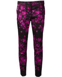 Lela Rose Purple Caroline Trousers - Lyst