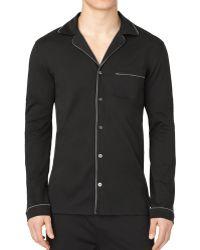 Calvin Klein Black Pajama Top - Lyst