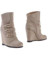 Pinko Beige Ankle Boots - Lyst