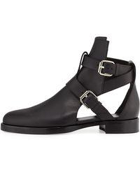 Pierre Hardy Double-Buckle Open Leather Boot - Lyst