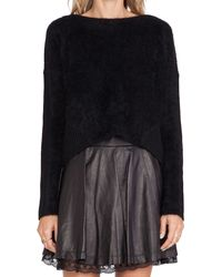 Alice + Olivia Wallace Mohair Sweater - Lyst