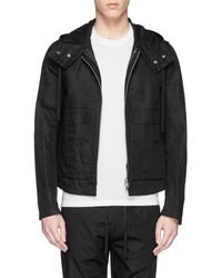 Ann Demeulemeester Detachable Vest Cotton-Linen Jacket - Lyst