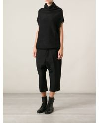 Rick Owens Knitted Roll Neck Top - Lyst