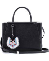 Fendi 2Jours Petite Fur-Trimmed Shopper - Lyst
