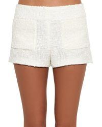Sonia Rykiel - Cotton-blend Tweed-bouclé Shorts - Lyst