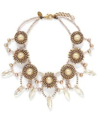 Erickson Beamon 'Stratosphere' Pearl Crystal Necklace - Lyst