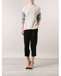 Yigal Azrouel Ribbed Sweater - Lyst