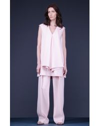 Marchi Dress With Draped Frills pink - Lyst