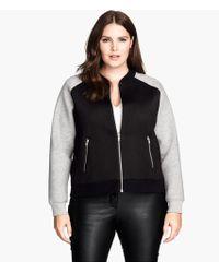 H&M Black Scuba Jacket - Lyst