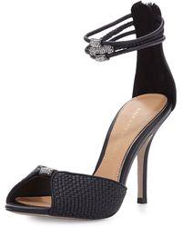 Badgley Mischka Kandyce Leather Ankle-strap Pump - Lyst