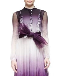 Burberry Prorsum - Pleated Tulle Belt - Lyst