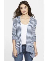 Tommy Bahama 'Amaranth Stripe' Linen & Cotton Hooded Cardigan - Lyst