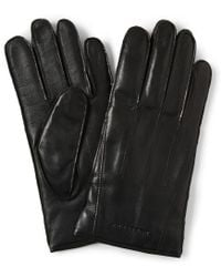 Burberry - Touch Screen Cashmere Lined Leather Gloves - Lyst