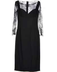 Elie Saab Black Knee-Length Dress - Lyst