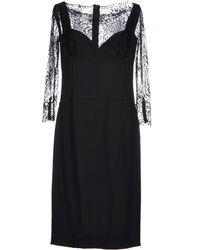 Elie Saab Knee-Length Dress black - Lyst